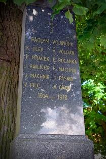 Památních padlým vojínům v 1.světové válce